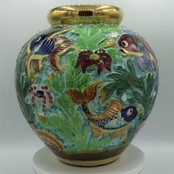 Grand vase boule ancien Monaco Cerdazur 122 DPS   Grand modèle - hauteur : 25,5 cm