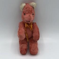 Ancien ours miniature | Yeux en verre | Collection jouets anciens
