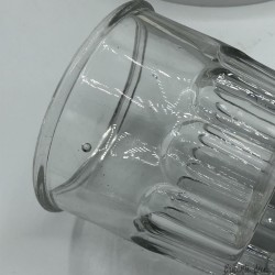 Lot of 5 old straight and conical glass jam jars