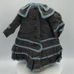 Ancien manteau de poupée Jumeau | Circa 1890 |  Longueur 26 cm