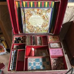 Ancienne mallette de jeux de société   Cira 1900   Collection
