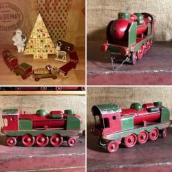 Ancien petit train en bois | Collection | Jouet ancien