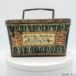 Old lithographed tin box | Cart | Royal Moka Chicorée Extra | Collector