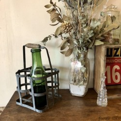 Old bottle basket | For 4 bottles | Iron