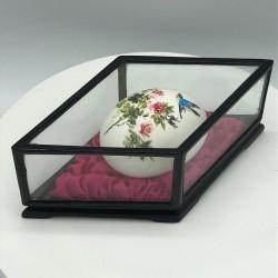 Oeuf peint sous verre | Objet de curiosité | Collection