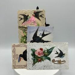 4 anciennes cartes postales fantaisies | Amitié, porte bonheur, Bonne année,1er Avril