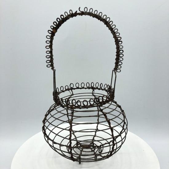 Old wrought iron egg basket | Old dinette | Old toys