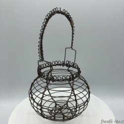 Old wrought iron egg basket | Old dinette | Old toys