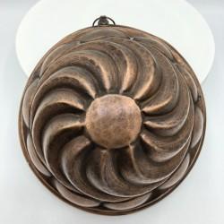 Ancien petit moule à gâteau en cuivre | Vieux moule en cuivre | Déco de cuisine