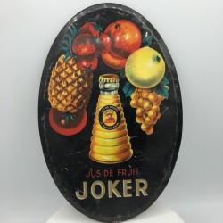 Ancienne plaque ovale publicitaire JOKER | Objets publicitaires | Bar
