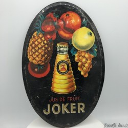 Old JOKER oval advertising plaque | Promotional items | Bar