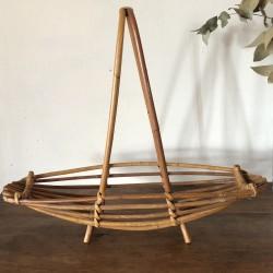 Vintage fruit basket | In rattan | Vintage table decoration