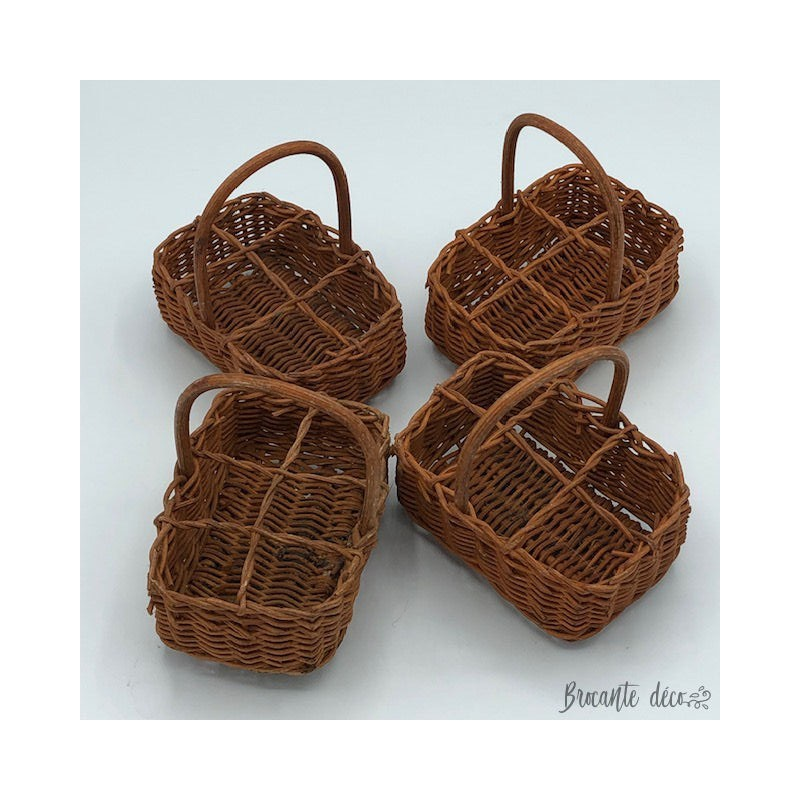 Mini 6 compartment bottle basket - wicker
