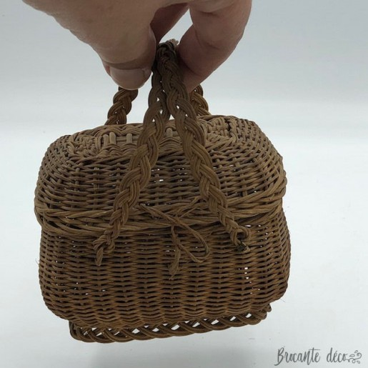 Old miniature wicker poultry basket