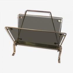 Porte revues vintage en verre fumé | Décoration intérieure | Design