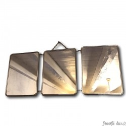 Old small barber's mirror   Barber triptych   Folding mirror
