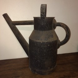 Old metal watering can | garden decoration, balcony, terrace
