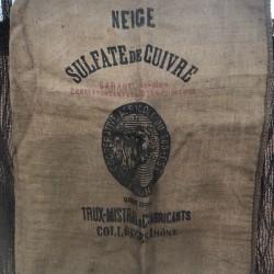 Ancien sac en toile de jute | Coopérative agricole sud-est | Farmhouse