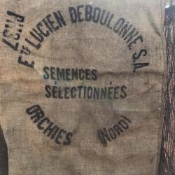 Ancien sac en toile de jute | LUCIEN DEBOULONNE | Farmhouse
