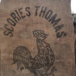Ancien sac en toile de jute | SCORIES THOMAS | Farmhouse