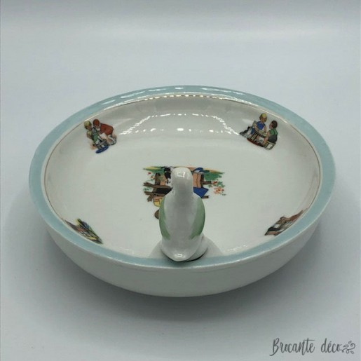 Old baby mush plate with tank