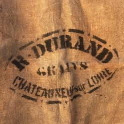 Ancien sac en toile de jute | R. Durand | Chateauneuf sur Loire