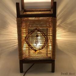 Lampe en corde vintage 60's - 70's