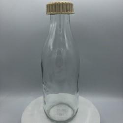 Ancienne bouteille de lait | En verre |Déco de cuisine |Farmhouse