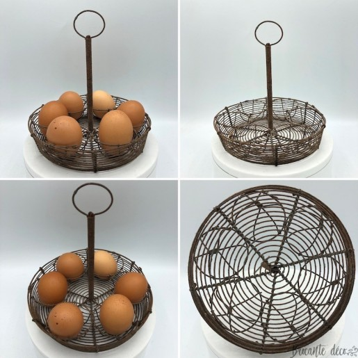 Old egg display stand   In iron   Kitchen decoration
