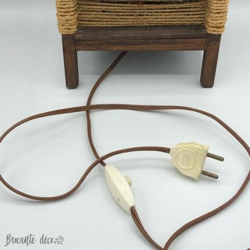 60's - 70's vintage rope lamp