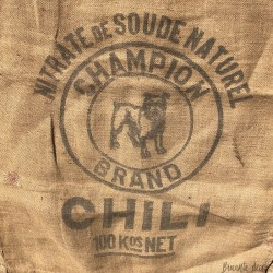 Old burlap bag | Champion Chili | DIY