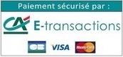 badge paiement Crédit Agricole - e-transaction sécurisée