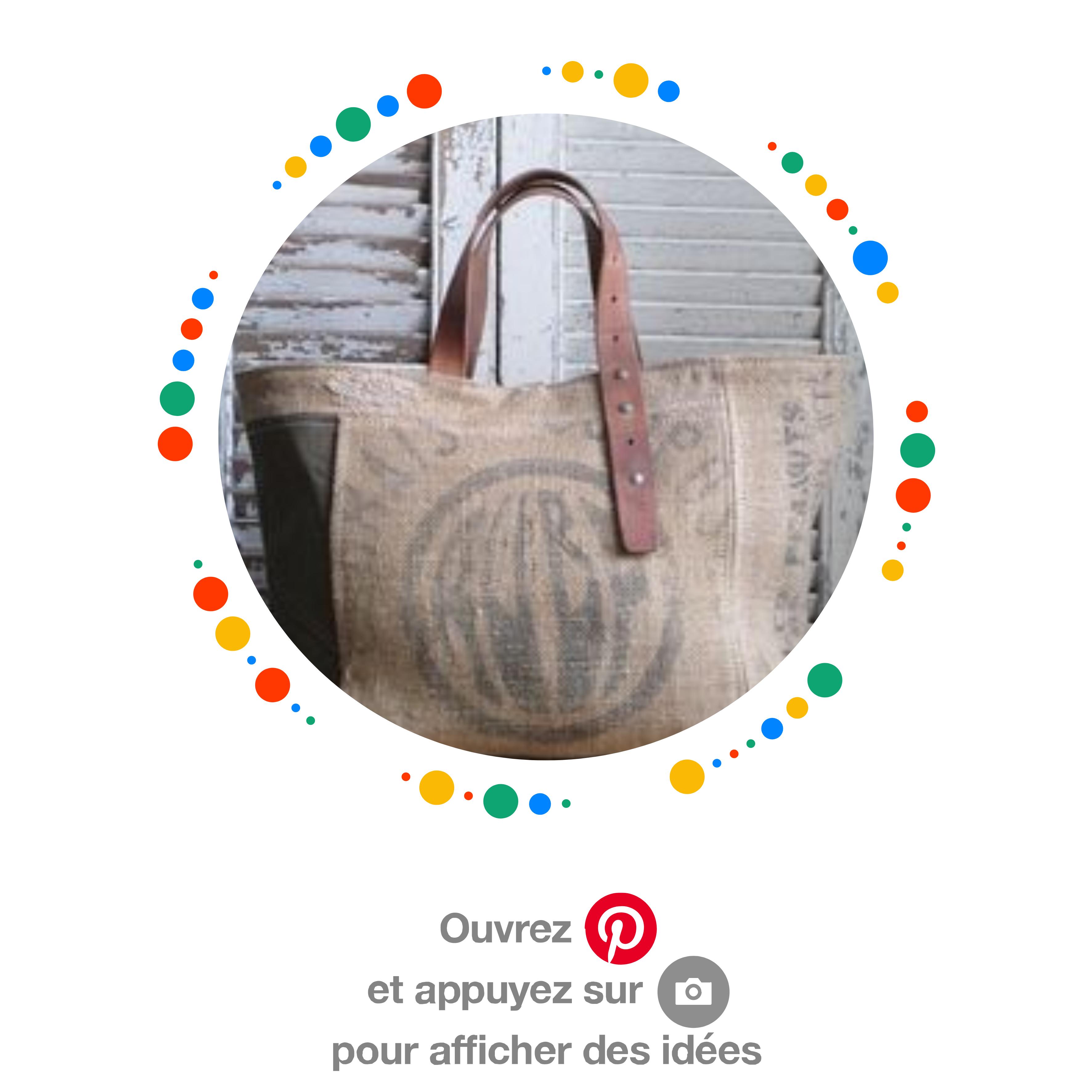 Idée déco ou utilisation avec un vieux sac en toile de jute
