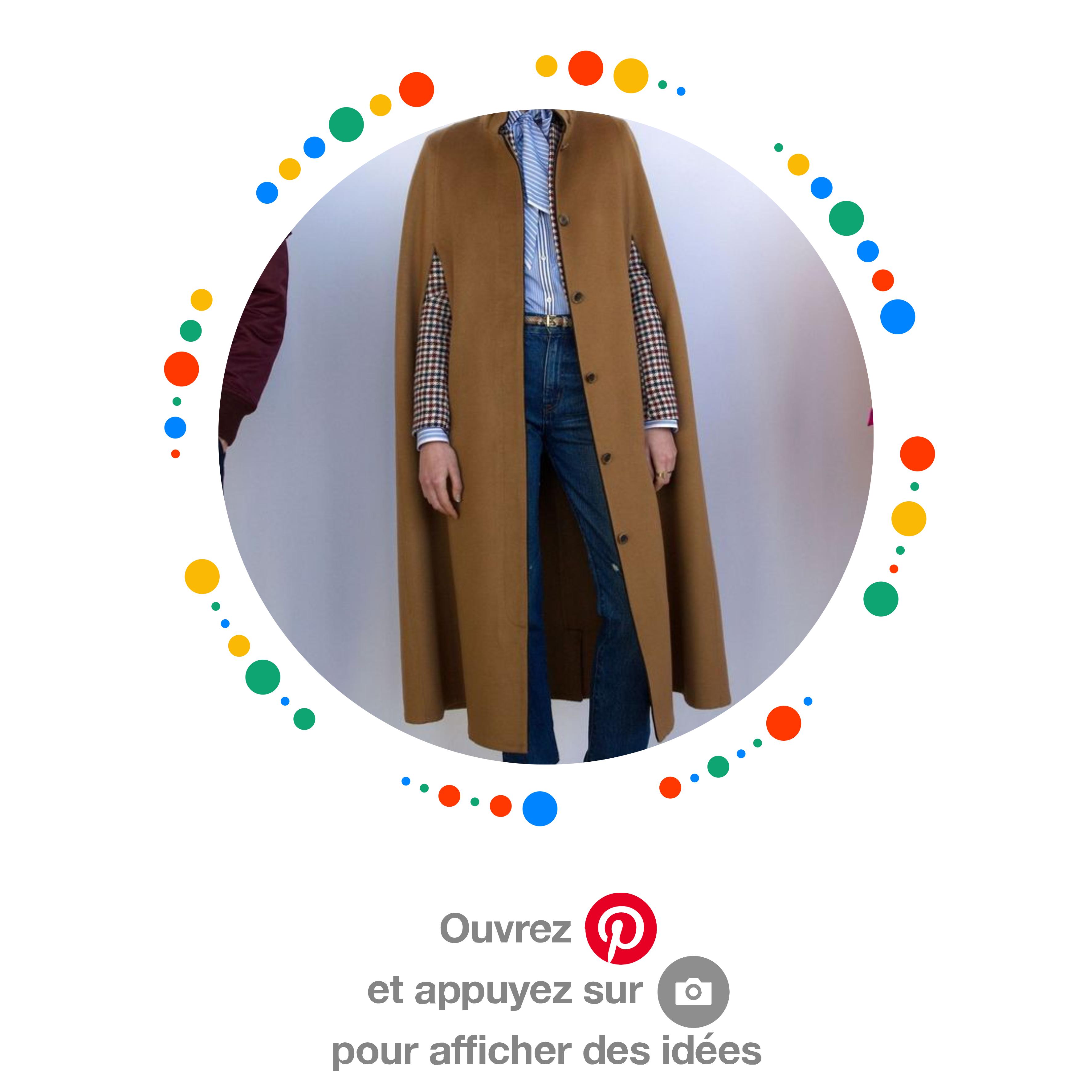 Idée look tendance avec manteau ou cape
